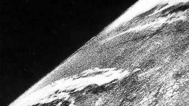 FIRST SPACE PHOTOGRAPH